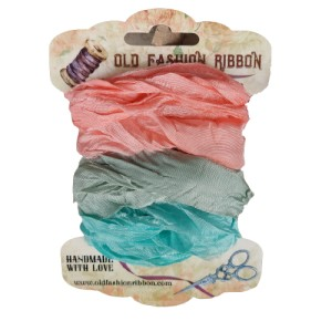 SAM-05  zestaw wstążek old fashion ribbon