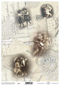 PER34 Pergamin do scrapbookingu A4 decoupage retro